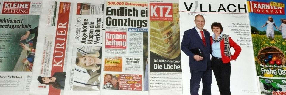 Medienberichte, Zeitung und Presse