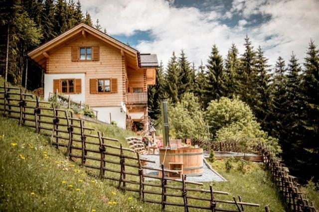 Einsam gelegenes Chalet in den österrreichischen Bergen